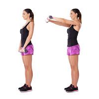 Ejercicio para hombros, elevación frontal