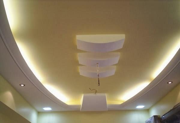 7 Gypsum False Ceiling Designs For Living Room Part 1