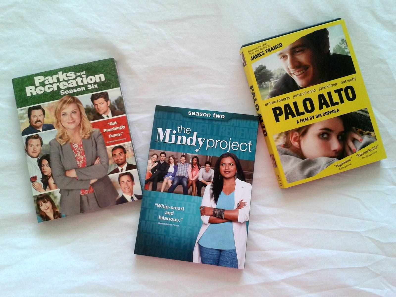 Parks & Recreation Season 6 The Mindy Project Season 2 Palo Alto DVDs Haul