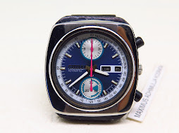 CITIZEN CHRONOGRAPH BLUE DIAL SEMI SQUARE CASE - AUTOMATIC