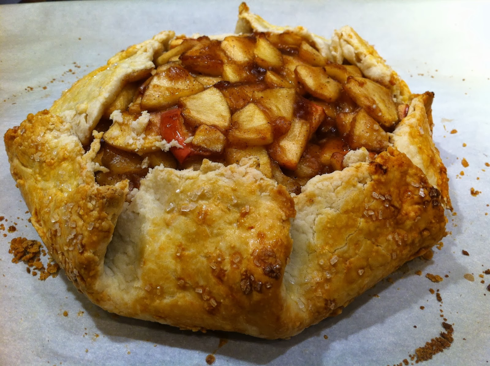... this simple yet elegant apple galette…its very similar to apple pie