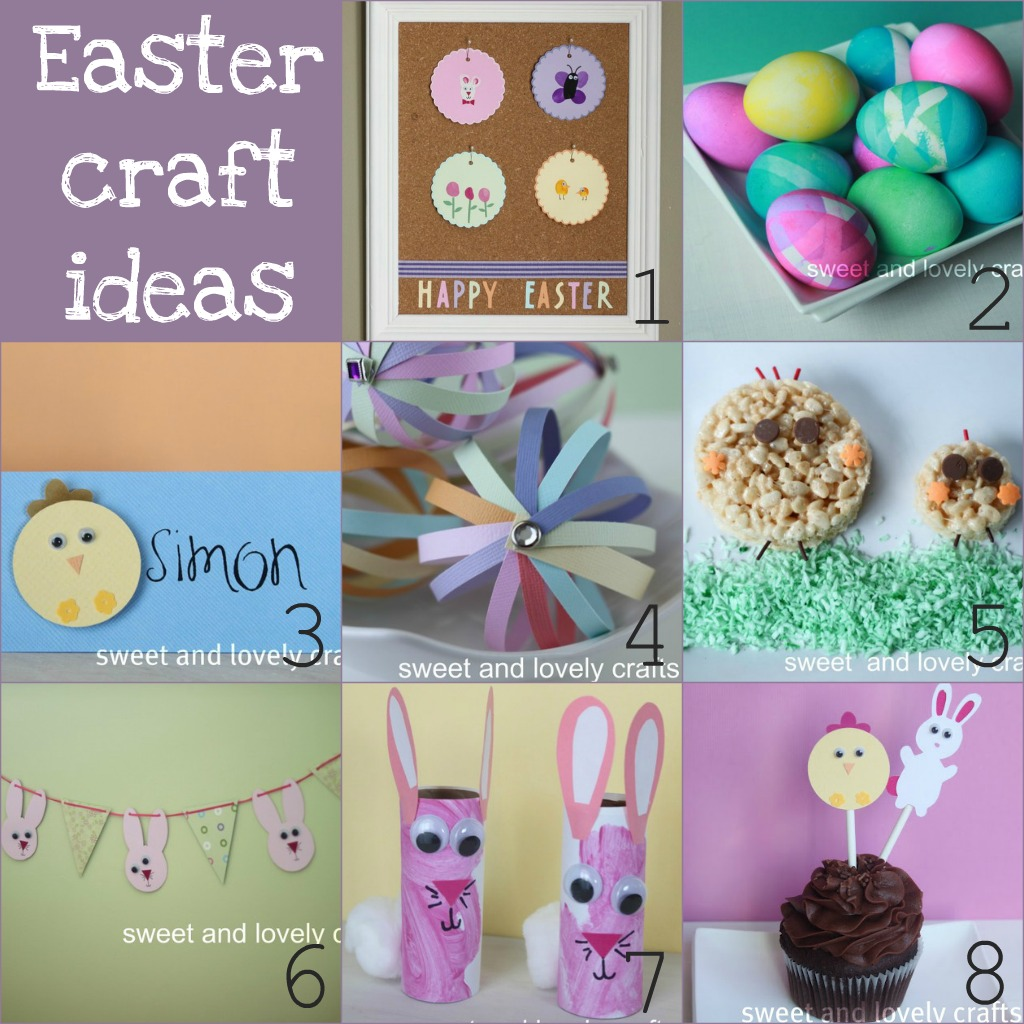 sweet and lovely crafts Easter craft ideas