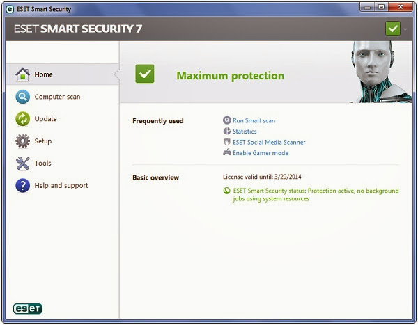 ESET Smart Security 7 Activation Key Free For 100Days