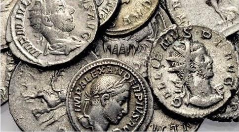 Herencia y monedas de plata romanas