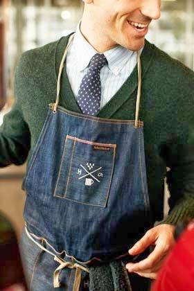 avental masculino em patchwork com patchcolagem