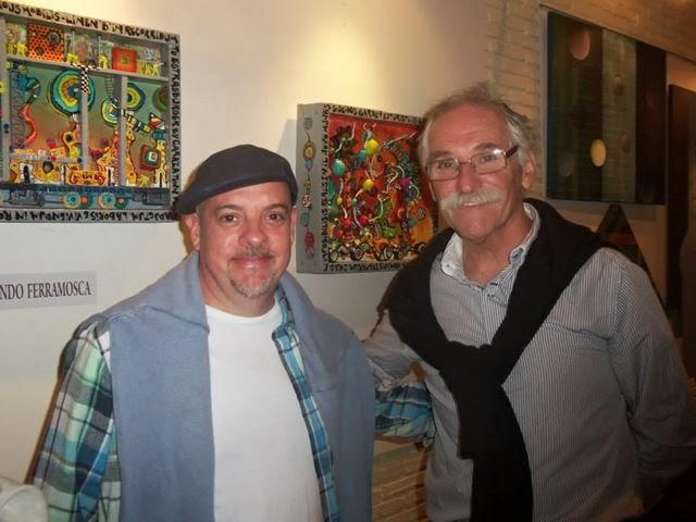 Junto a Eduardo Labraga Curbelo, artista uruguayo