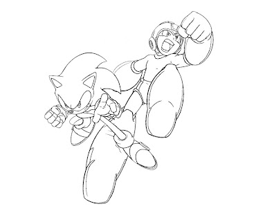 #8 Mega Man Coloring Page