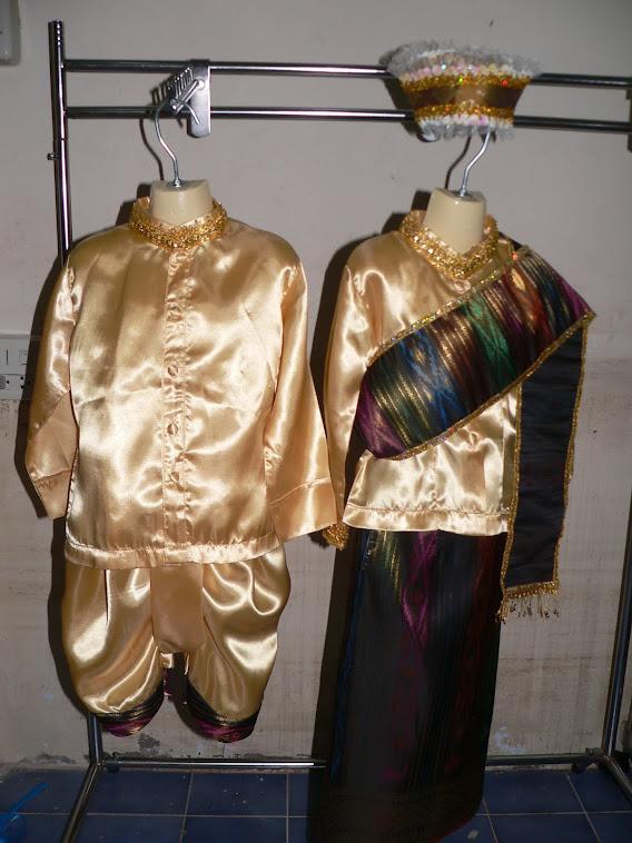 ชุดอาเซี่ยนประจำชาติลาว ชุดเด็กชาย ชุดผู้หญิง มีไซน์SSSจนถึงไซน์XXL