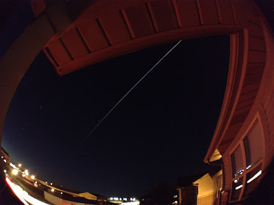 International Space Station with Slow Shutter Cam on iPhone