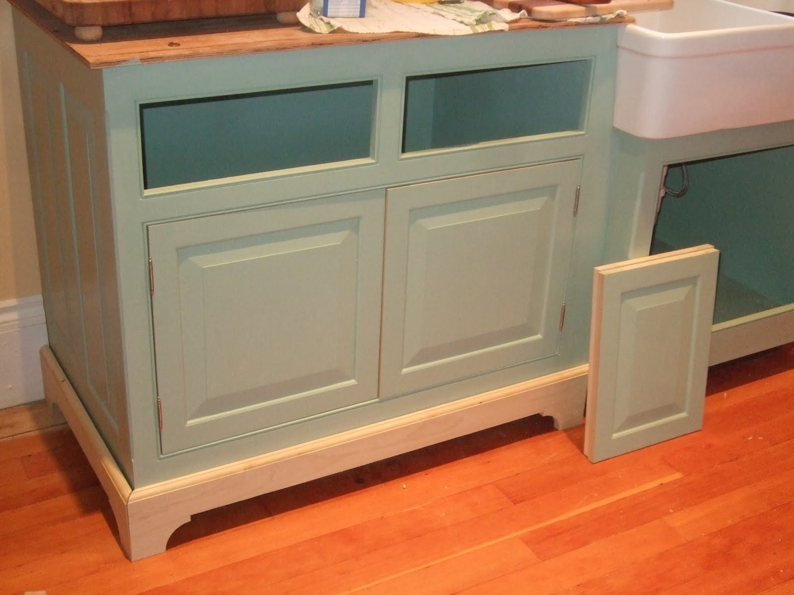 cabinets n bay cabinet dv gray moldings in panel kitchen dishwasher hampton panels kadep end dove b