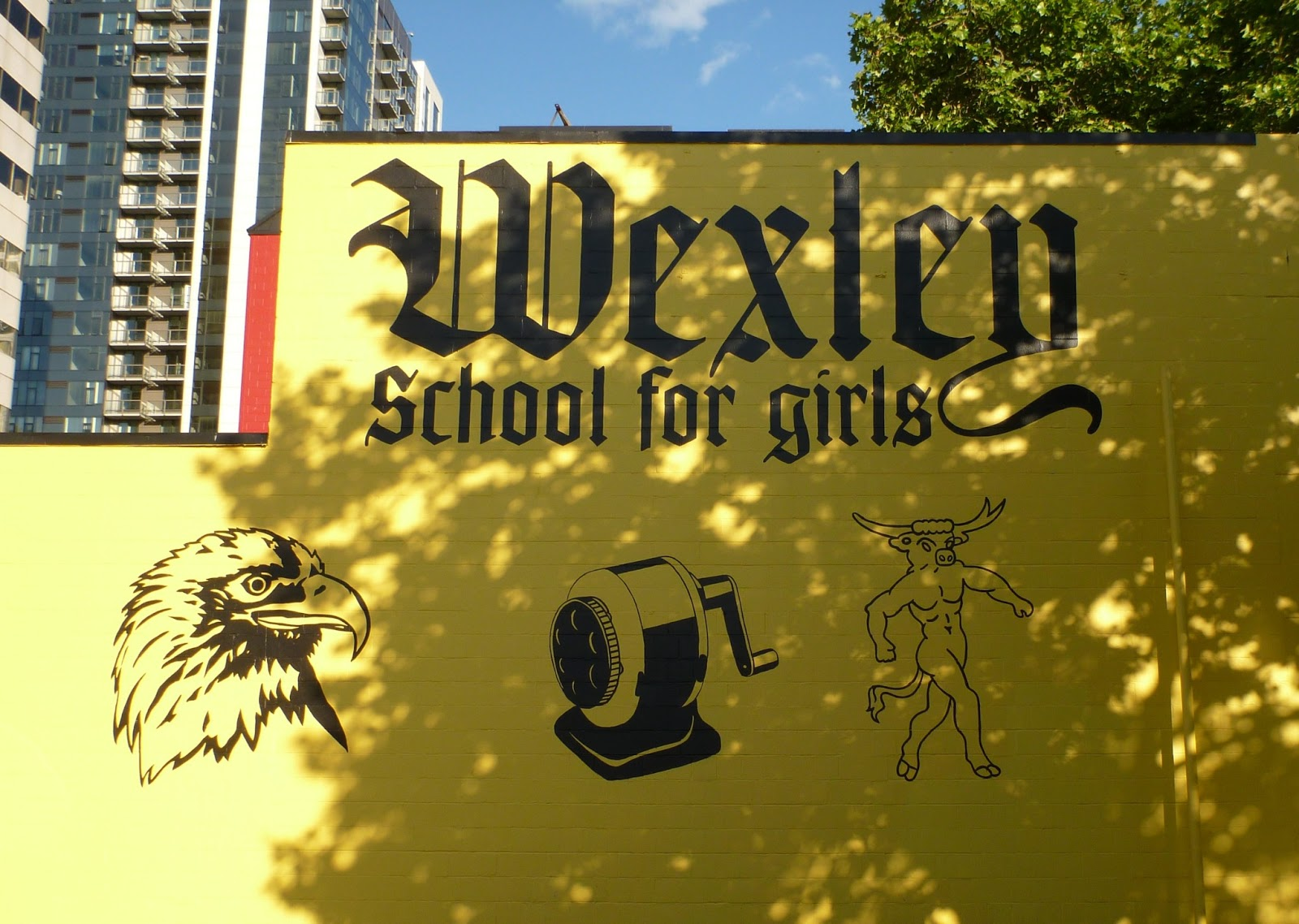 TravelMarx: Wexley School for Girls – Yellow Wall and Back Alley ...