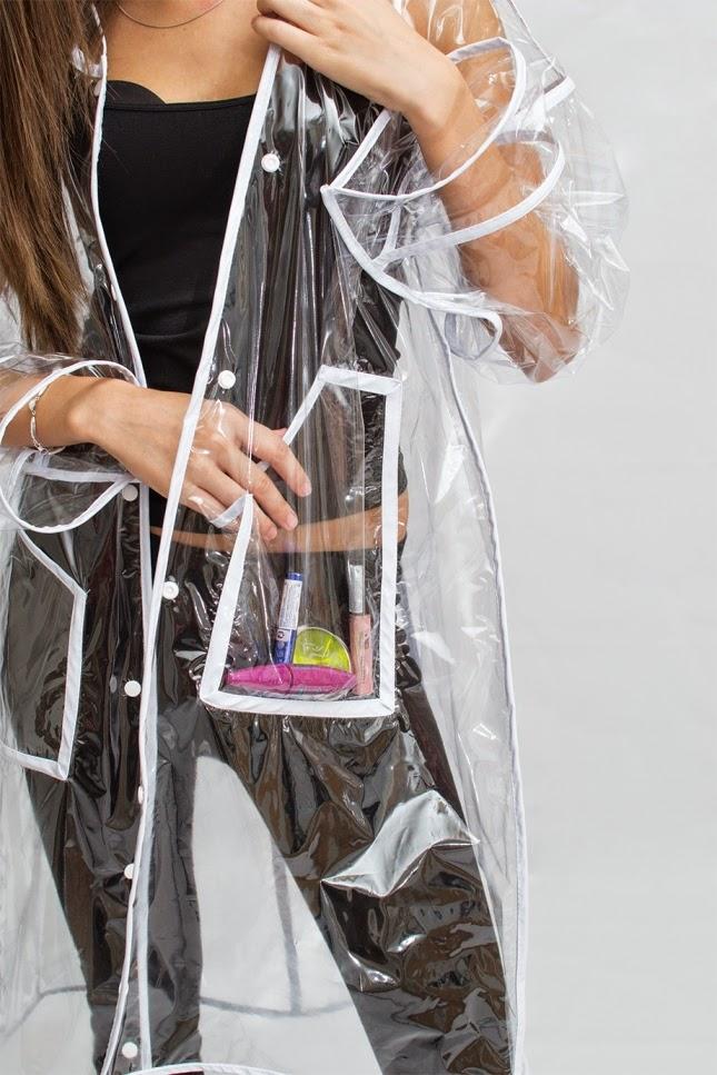 купить дождевик прозрачный стильный