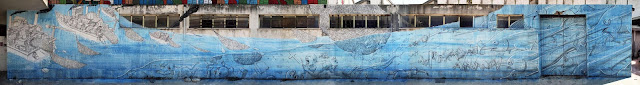 Street Art By Blu in Messina At Teatro Pinelli Occupato.- full view