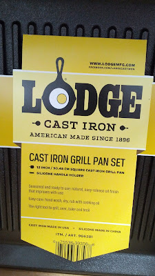 Lodge Cast Iron Grill Pan comes pre-seasoned for good flavor and a nonstick cooking surface