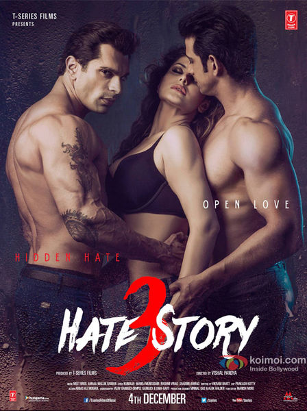 full cast and crew of bollywood movie Hate Story 3 2015 wiki, Zarine Khan, Daisy Shah, Sharman Joshi and Karan Singh Grover story, release date, Actress name poster, trailer, Photos, Wallapper