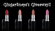 GINGERSNAPS&#39; Mac lipstick giveaway!!!!!!