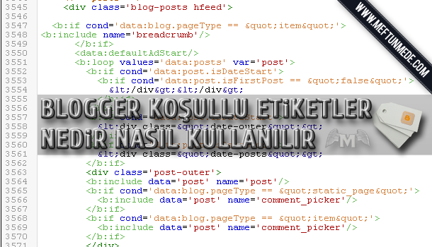 Blogger koşullu Etiketlerin kullanımı