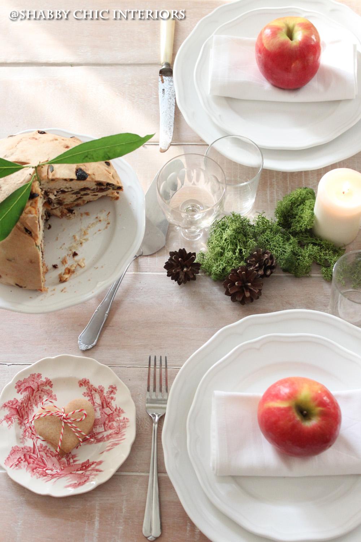 Una tavola per natale shabby chic interiors for Tavolo natale