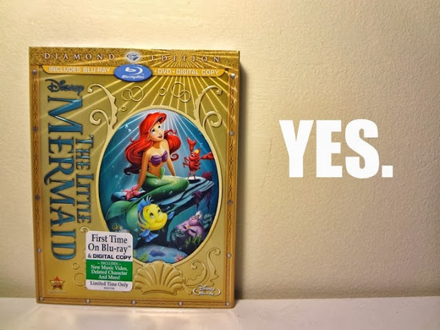 Diamond edition, The Little Mermaid, Disney, DVD, Blu Ray, 2013