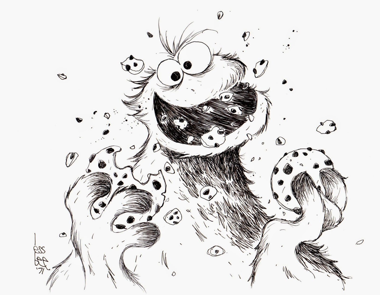 Cookie Monster Pencil Drawing Cookie monster sketchCookie Monster Pencil Drawing