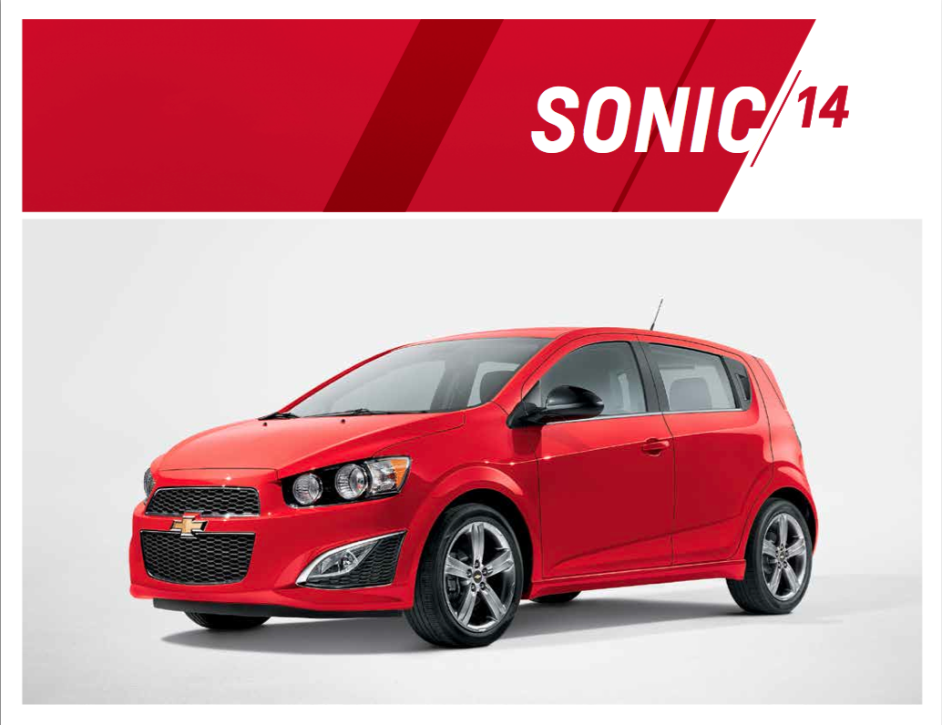 2014 Chevy Sonic Brochure at Kool Chevrolet