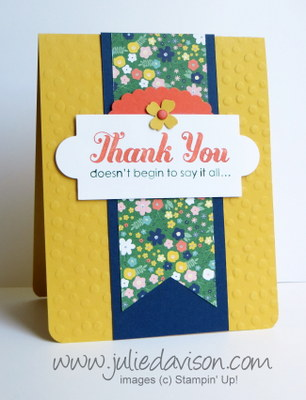 Stampin' Up! Lots of Thanks Card with Flowerpot DSP #stampinup www.juliedavison.com