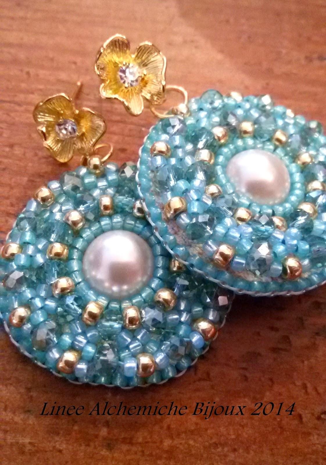 Linee alchemiche bijoux orecchini in embroidery semplici for Materiali da costruzione economici