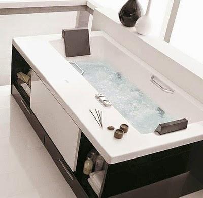 BADEBANYO: Bañeras para espacios reducidos: Con cajones.