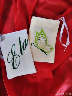 Personalizowane woreczki z motylem / Personalized pouches with butterfly