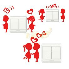 Lovely person stickers for bedroom walls