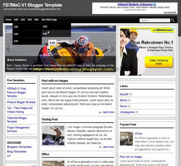 FBTMaG V1 Blogger Template
