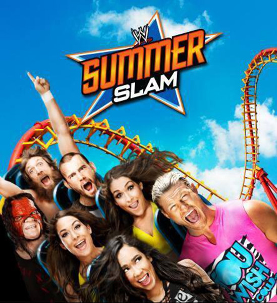 CM Punk, AJ Lee, Dolph Ziggler, Team Hell-No, The Bella Twins. | SummerSlam 2013 Official Poster First-Look | Download free HQ HD