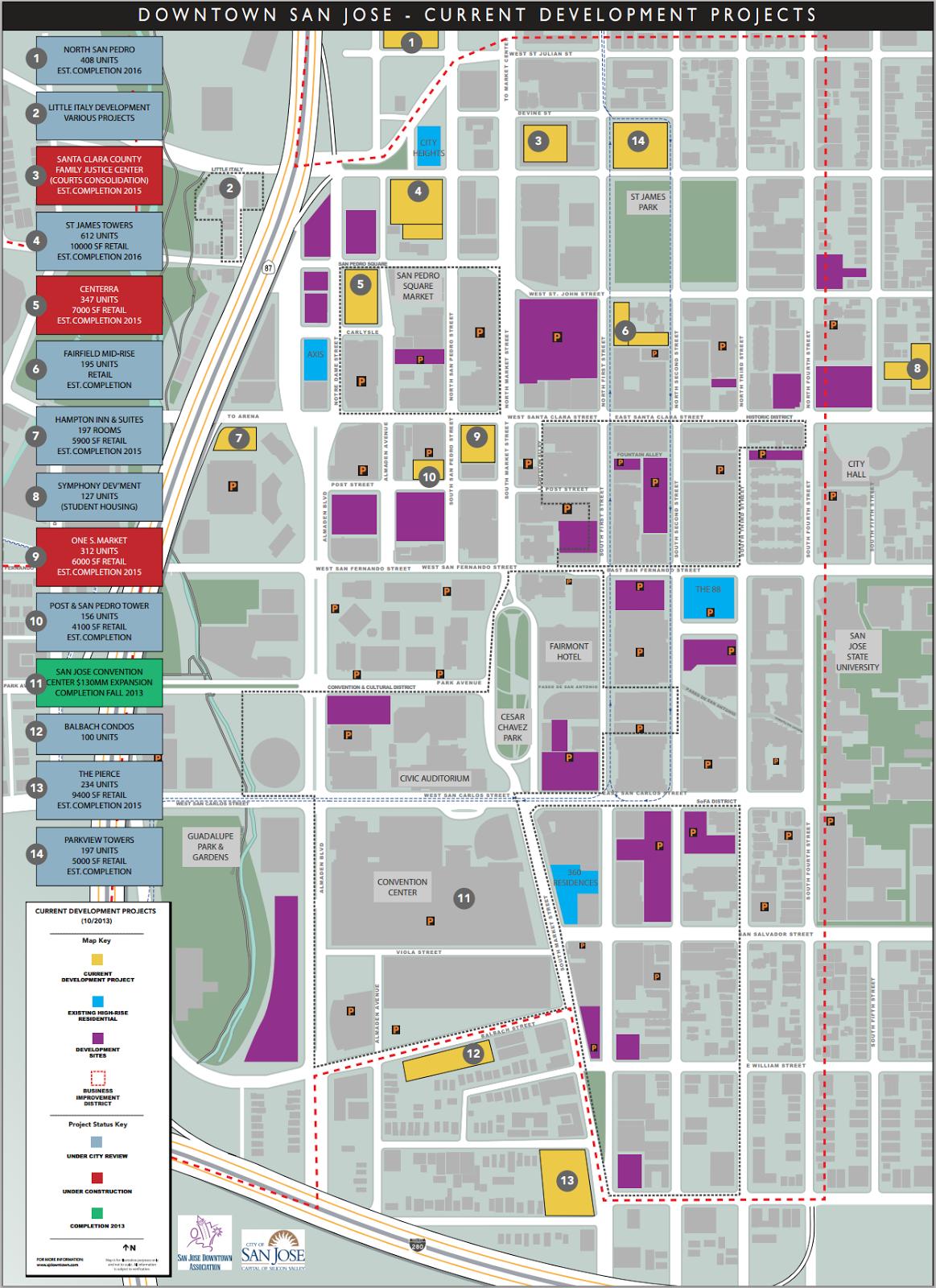 The San Jose Blog: Downtown San Jose Development Projects Map