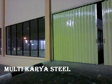projek kusen aluminium dan folding gate