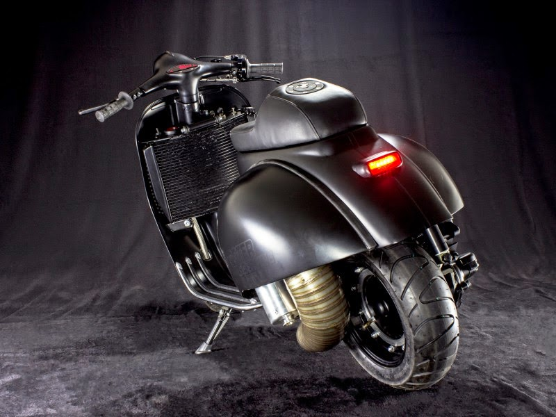 custom vespa ps 240 rocketgarage cafe racer magazine. Black Bedroom Furniture Sets. Home Design Ideas