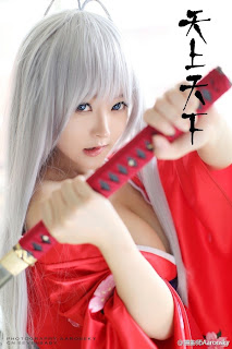 Liu Yu Chi Chinese Sexy Model Sexy Red Ninja Dress Big Boo Photo 6
