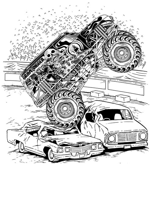 Coloring Pages Of Monster Trucks - Best Coloring Pages ...