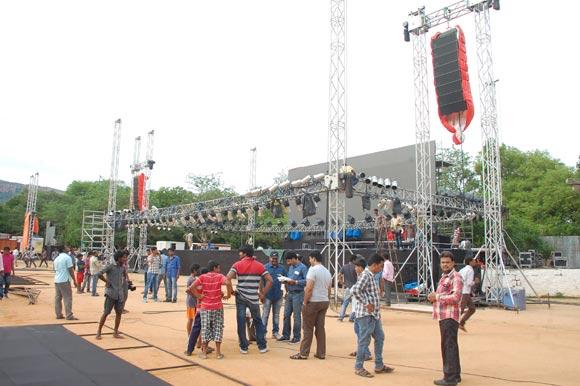 Live Streaming of Bahuballi Audio Launch Sri Venkateswara University (SVU) Grounds, Tirupathi Preparations