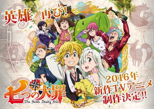 Anime 'Nanatsu no Taizai' Akan Mendapatkan Musim Kedua Pada 2016