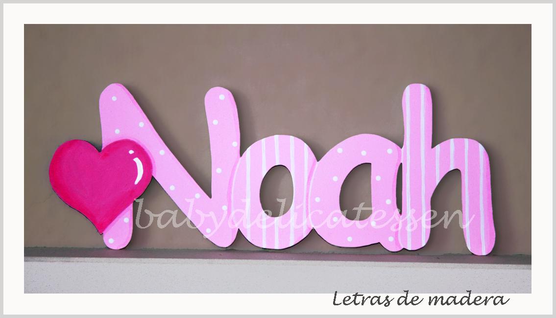 Baby delicatessen letras de madera letras de madera - Letras en madera ...