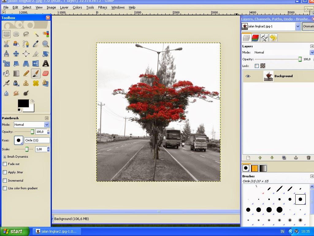 Membuat Gambar Effect Selective Color Dengan GIMP 8