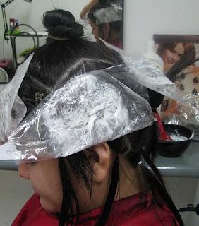 decolorando el cabello