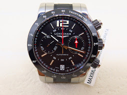 LONGINES ADMIRAL CHRONOGRAPH BLACK DIAL - AUTOMATIC