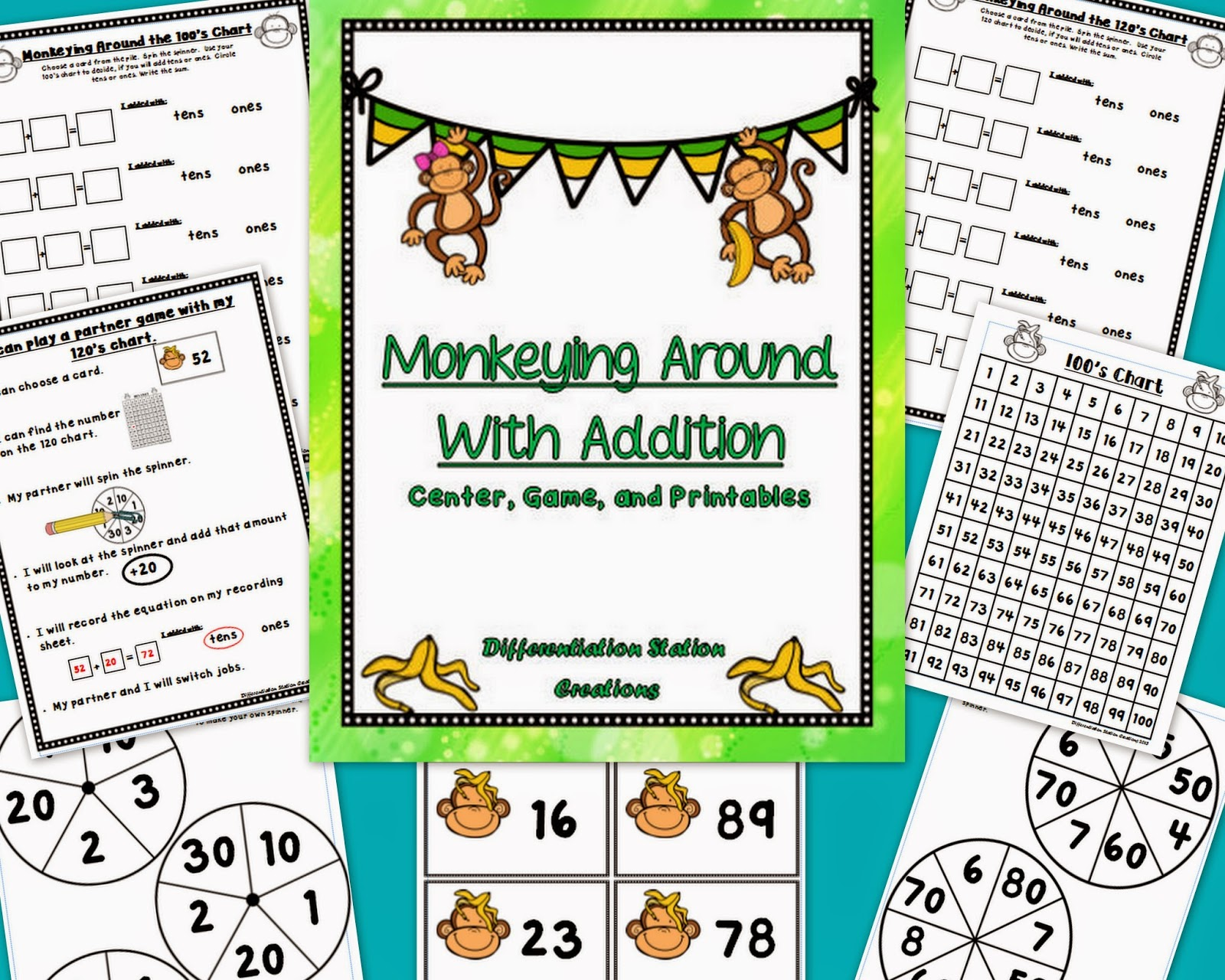 http://www.teacherspayteachers.com/Product/Monkeying-Around-With-Addition-Adding-Tens-and-Ones-1204934