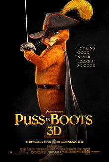 Puss in Boots poster animatedfilmreviews.filminspector.com