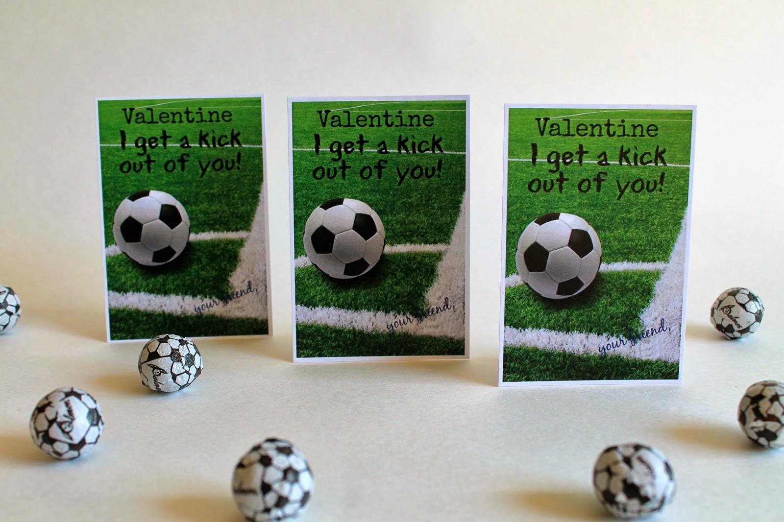Soccer Valentine Cards