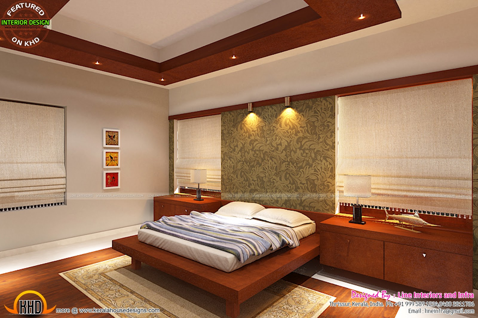 March 2015 kerala home design and floor plans for Kerala home interior design bedroom