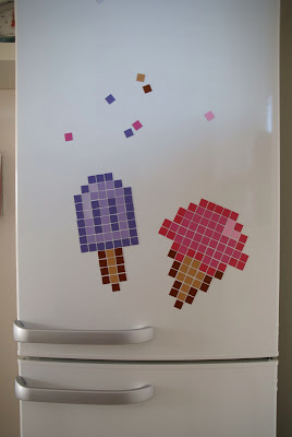 Pixel art magnets DIY How to