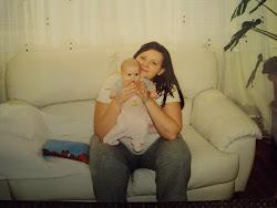 2008 szeptemberében Dorka babával:)) de kis picike volt.... :)