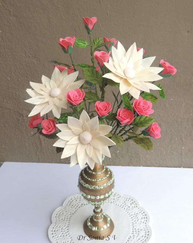 Cards Crafts Kids Projects Handmade Foam Rose Flower
